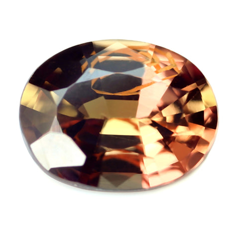 0.67ct Certified Natural Brown Sapphire