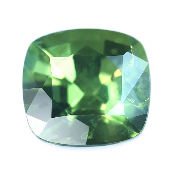 0.61ct Certified Natural Green Sapphire