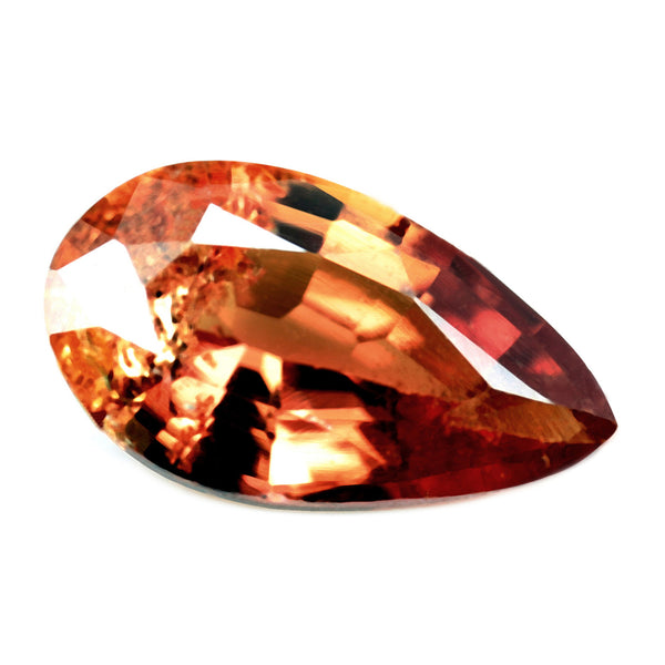 0.97ct Certified Natural Orange Sapphire
