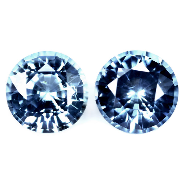 0.95ct Certified Natural Blue Sapphire Pair