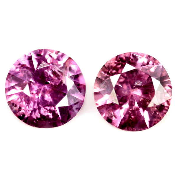 0.36ct Certified Natural Pink Sapphire Pair