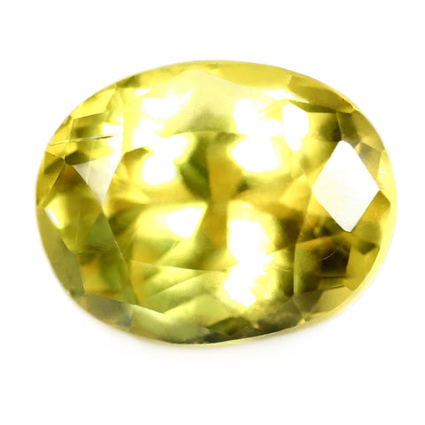 1.31ct Certified Natural Yellow Sapphire