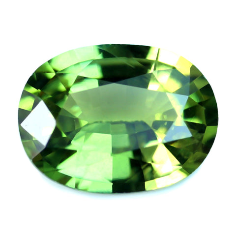 0.66ct Certified Natural Green Sapphire