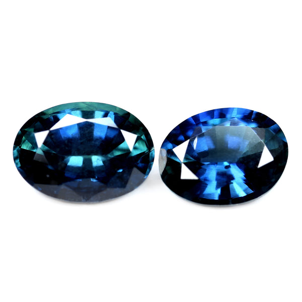 0.94ct Certified Natural Blue Sapphire Pair