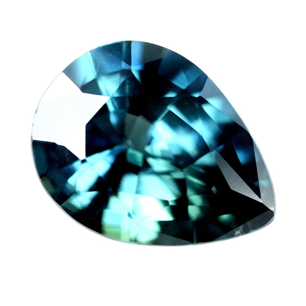 1.15ct Certified Natural Teal Sapphire