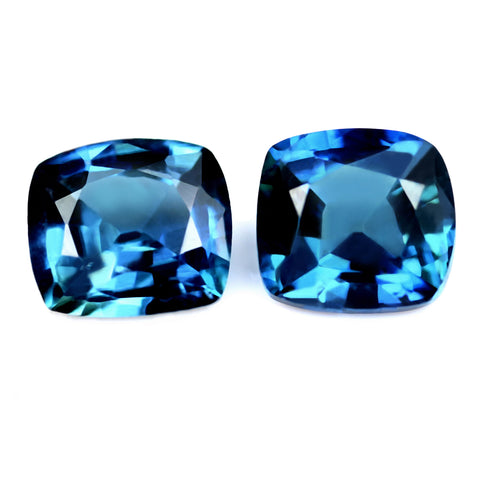 0.65ct Certified Natural Blue Sapphire Pair