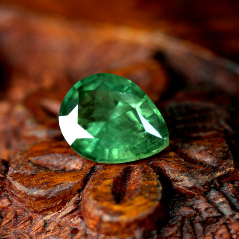 2.29ct Certified Natural Green Sapphire