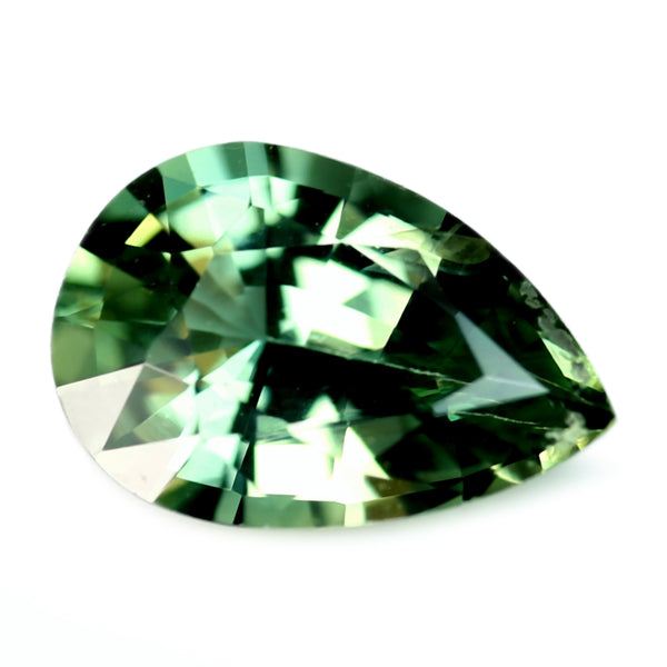 0.75ct Certified Natural Green Sapphire