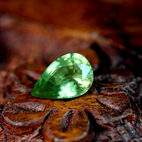 1.45ct Certified Natural Green Sapphire