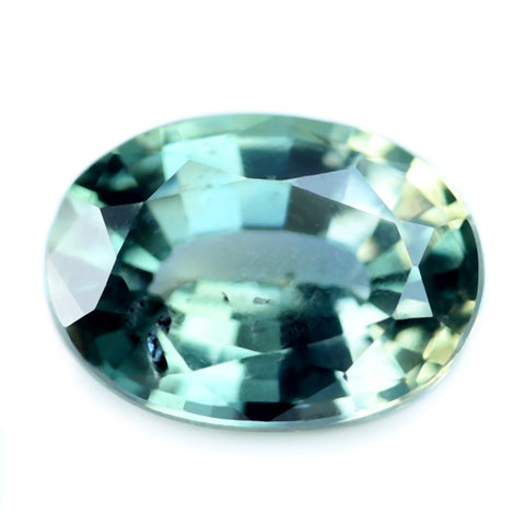 0.90ct Certified Natural Green Sapphire
