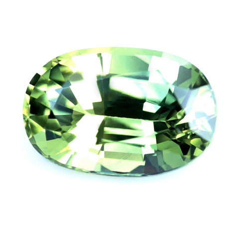 0.73ct Certified Natural Green Sapphire