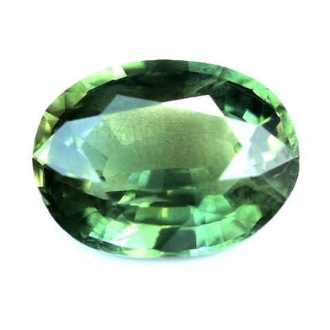 1.25ct Certified Natural Green Sapphire