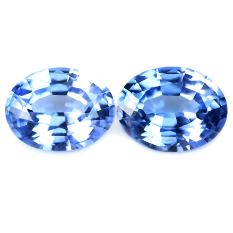 0.67ct Certified Natural Blue Sapphire Matching Pair