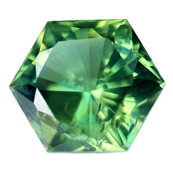 1.42ct Certified Natural Green Sapphire