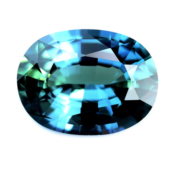 0.53ct Certified Natural Teal Sapphire