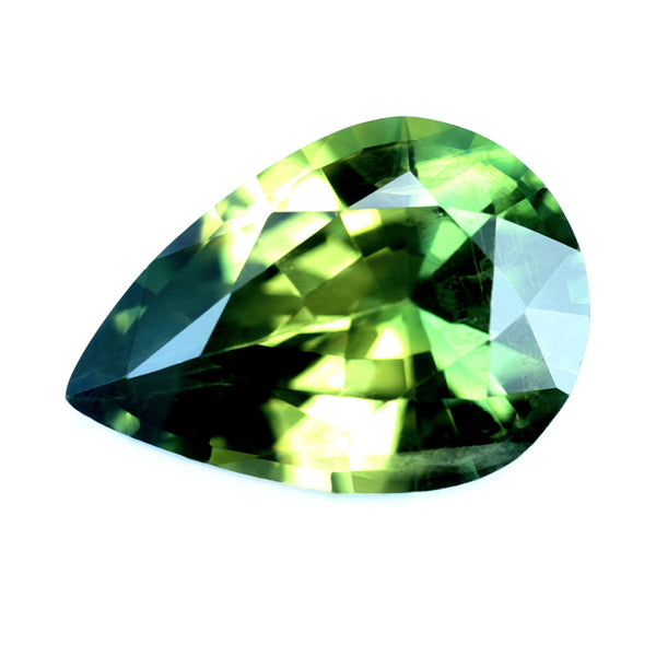 0.76ct Certified Natrual Green Sapphire