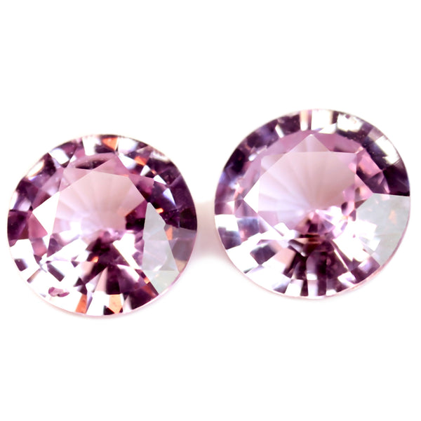 0.52ct Certified Natural Pink Sapphire Matching Pair