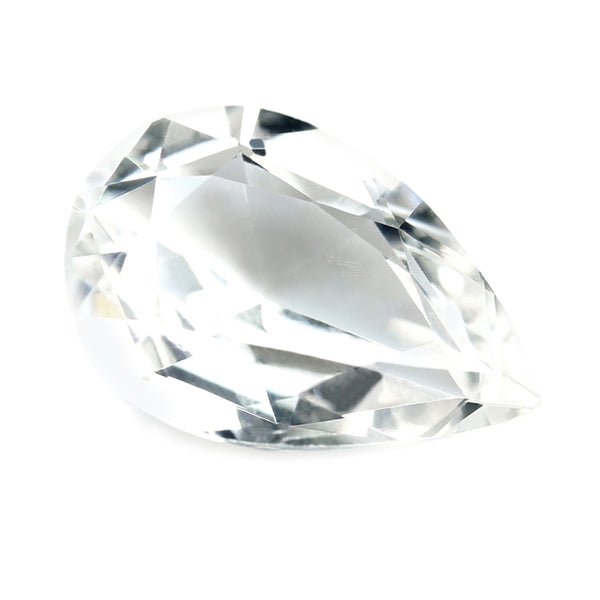 0.75ct Certified Natural White Sapphire