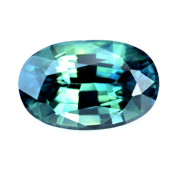 0.91ct Certified Natural Teal Sapphire