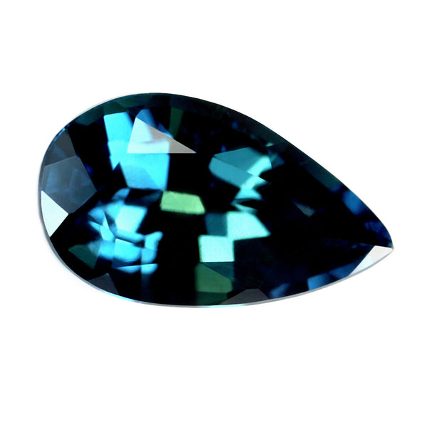 0.76ct Certified Natural Teal Sapphire