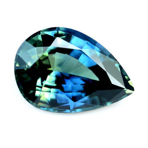 0.73ct Certified Natural Teal Sapphire