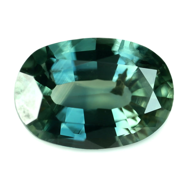 0.78ct Certified Natural Teal Sapphire