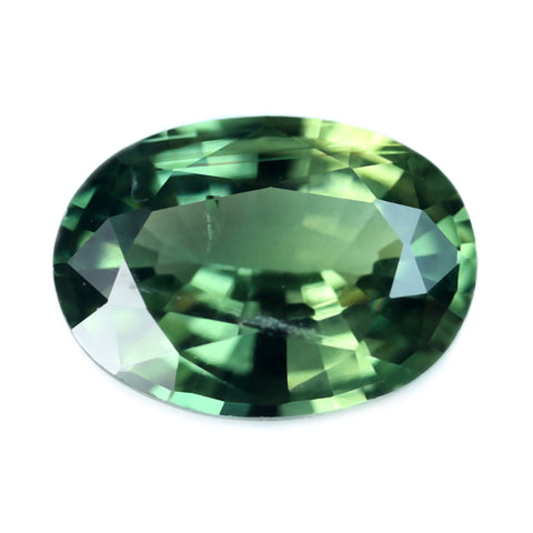 0.88ct Certified Natural Green Sapphire