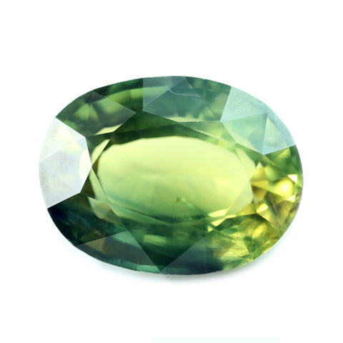 0.94ct Certified Natural Green Sapphire