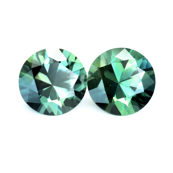 1.02ct Certified Natural Teal Sapphire Pair