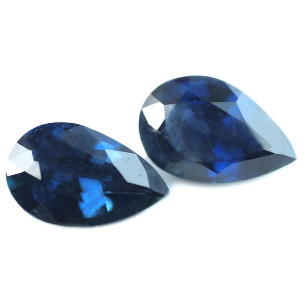 0.95ct Certified Natural Blue Sapphire Matching Pair