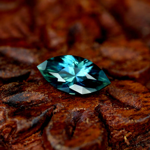 0.70ct Certified Natural Teal Sapphire