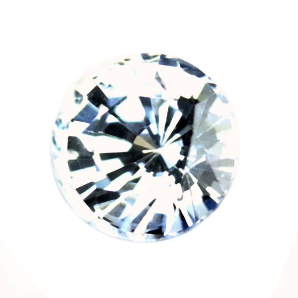 0.40ct Certified Natural White Sapphire