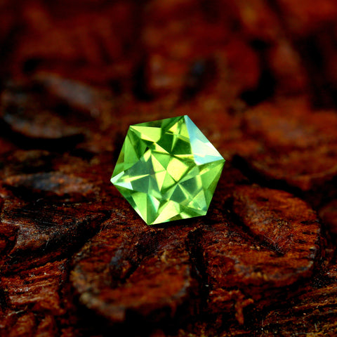 0.82ct Certified Natural Green Sapphire