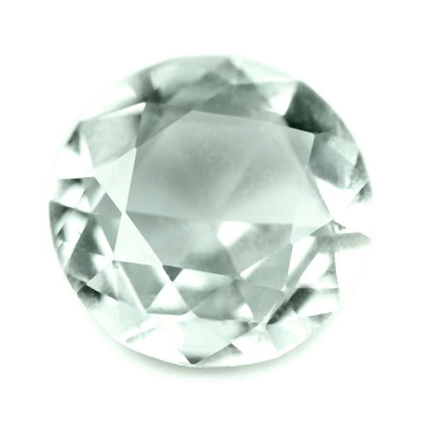 0.86ct Certified Natural White Sapphire