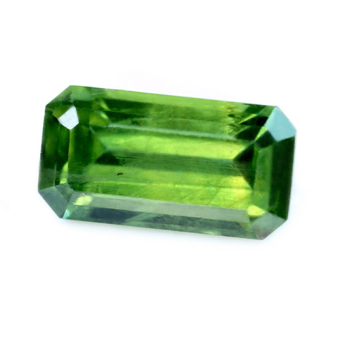 1.60ct Certified Natural Green Sapphire