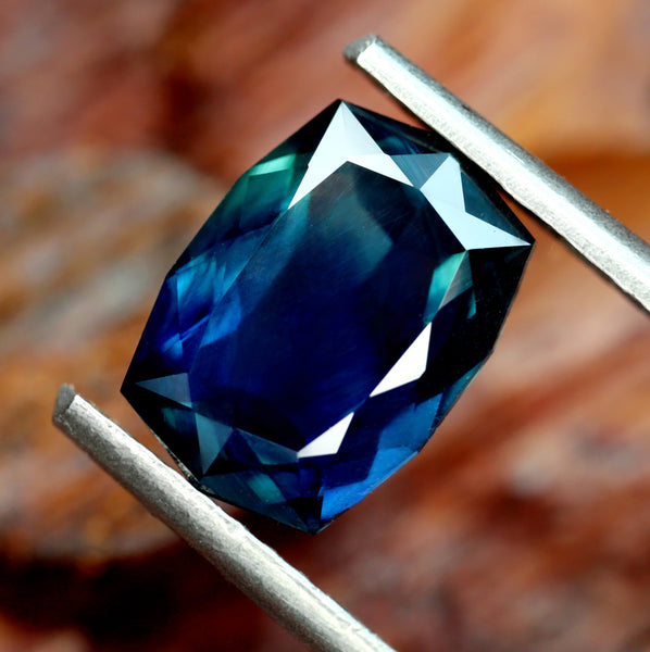 2.00ct Certified Natural Teal Sapphire