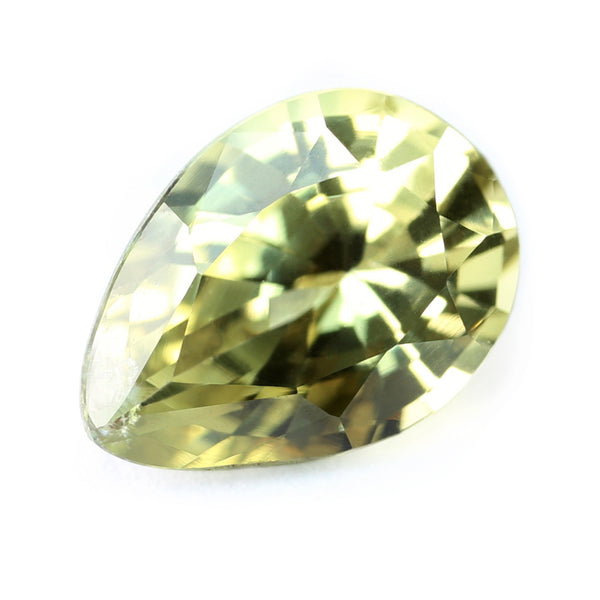 0.87ct Certified Natural Yellow Sapphire