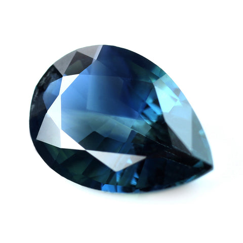 1.11ct Certified Natural Teal Sapphire