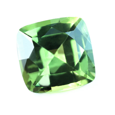 0.76ct Certified Natural Green Sapphire
