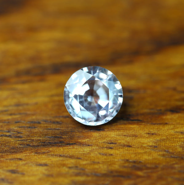 0.62ct Certified Natural White Sapphire