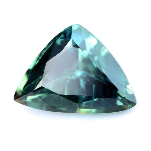 0.89ct Certified Natural Green Sapphire