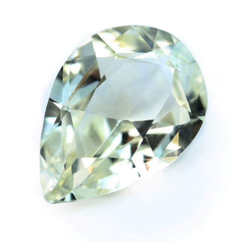 0.81ct Certified Natural White Sapphire