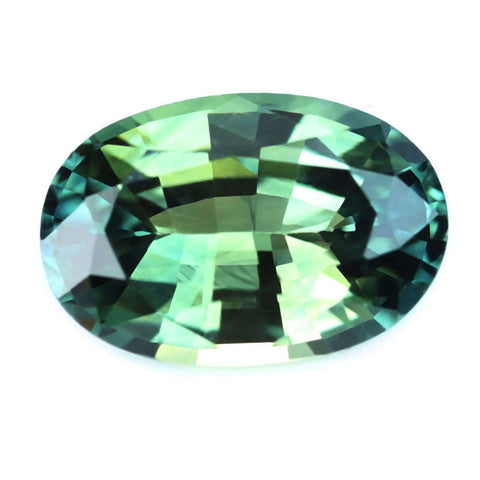 0.63ct Certified Natural Green Sapphire