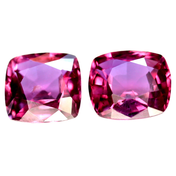 0.99ct Certified Natural Red Ruby Matching Pair