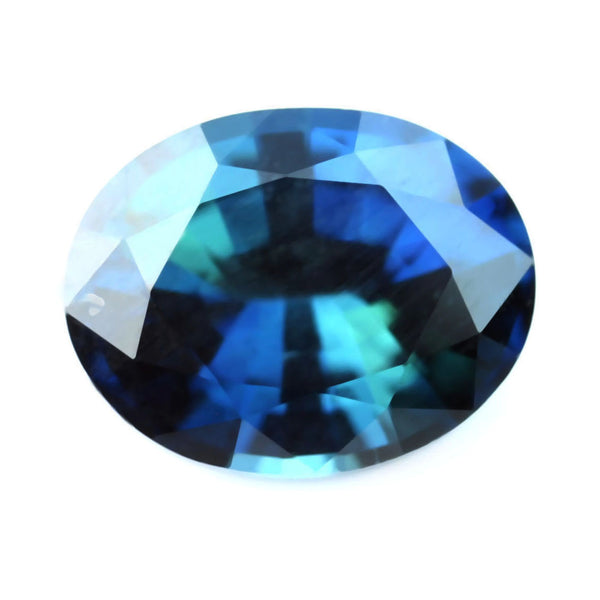 0.49ct Certified Natural Teal Sapphire