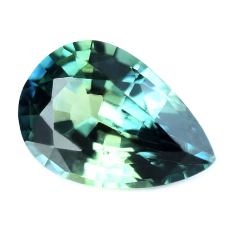 0.61ct Certified Natural Teal Sapphire