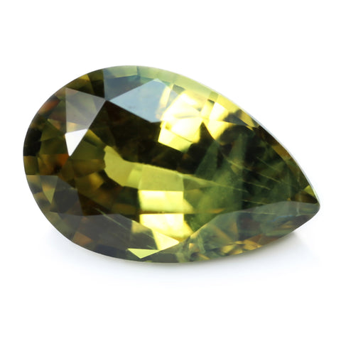 0.90ct Certified Natural Olive Green Sapphire