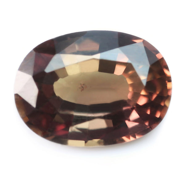 0.72ct Certified Natural Brown Sapphire
