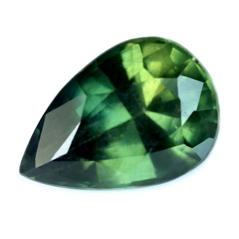 1.75ct Certified Natural Green Sapphire