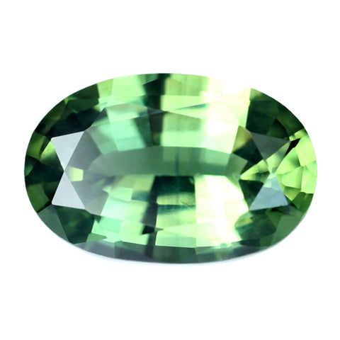 0.70ct Certified Natural Green Sapphire